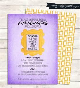 friends tv show shower invitation bridal by littlepebblepaper
