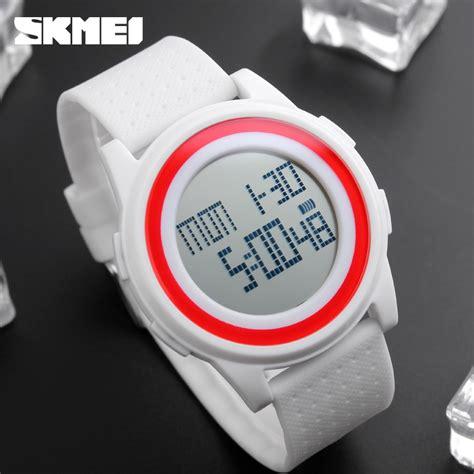 Jam Tangan Pria Digital Skmei Sport Rubber Led Original 1119 Biru skmei jam tangan digital pria dg1206 black jakartanotebook