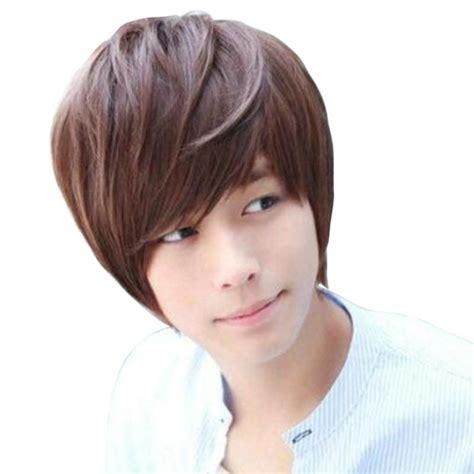 short boy cut wigs natural wigs sale korean style hair wig handsome mens male short natural