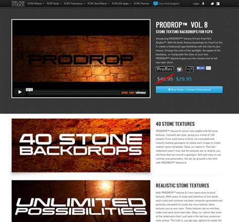 final cut pro unsupported volume type pixel film studios brings rock texture backdrops to final
