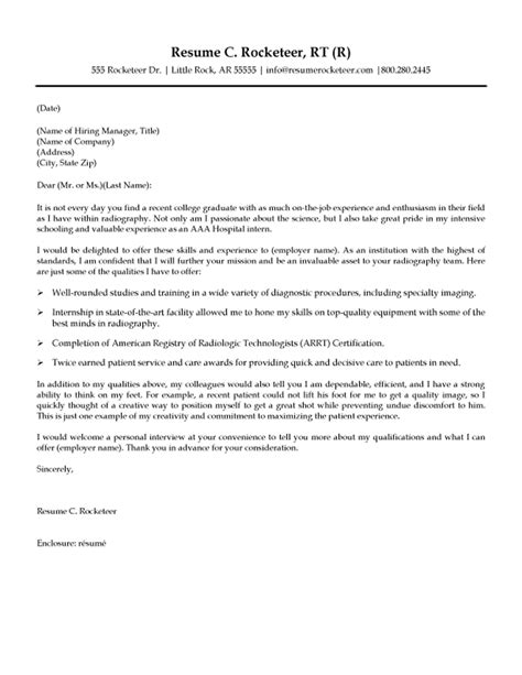 rad tech cover letter  resume examples radiology