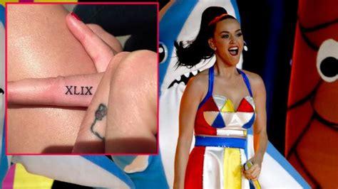 tattoo von katy perry katy perry verewigt quot super bowl 2015 quot auf haut von der