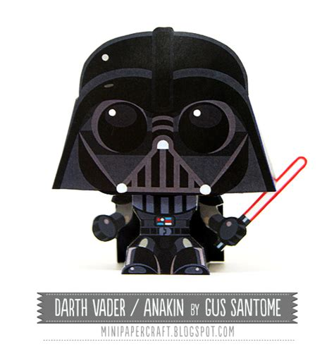 Papercraft Darth Vader - mini papercraft darth vader anakin by gus santome the