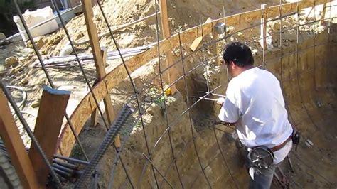 koi pond construction part  rebar plumbing youtube