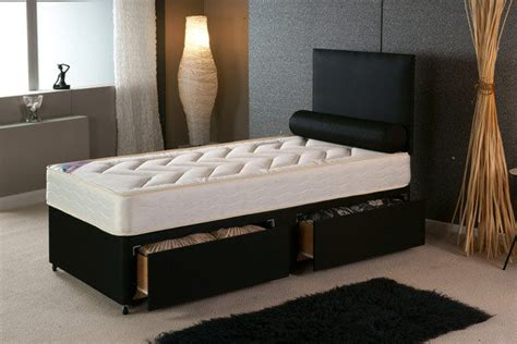single beds for adults 3ft single divan bed with quilted mattress storage