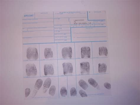 Fingerprint Background Check Near Me Standard Fbi Fd 258 Fingerprint Card State Fbi And