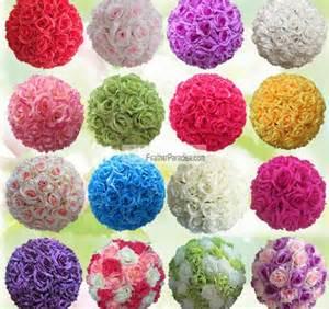Turquoise Vase Fillers Rose Flower Pomander Wedding Decoration Ball Silk Kissing
