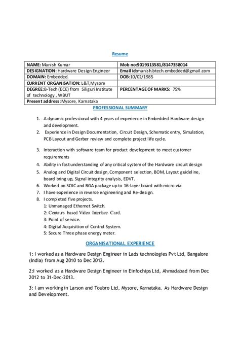 embedded design engineer resume resume ideas