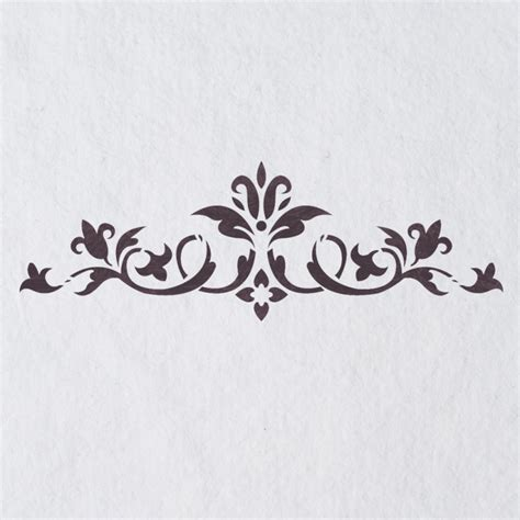 Wall Stencils Border Stencil Pattern 072 Reusable Template For Diy Wall Decor J Boutique Ornament Stencil Template