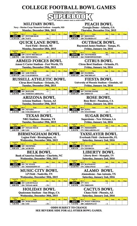 printable bowl games 2017 18 college football bowl helmet schedule all