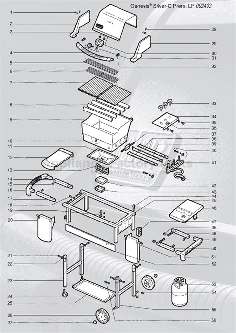 weber genesis parts diagram weber genesis silver c lp swe premium 2004 parts bbqs
