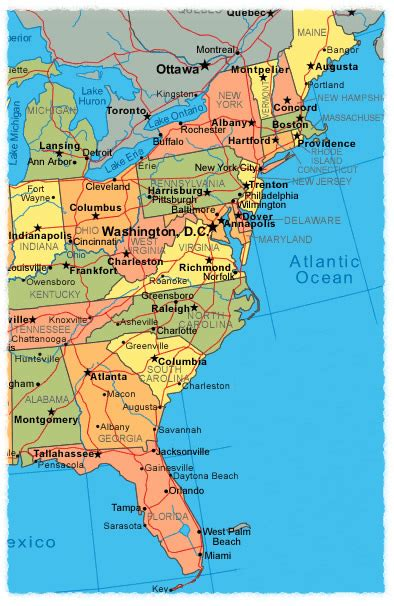 map of the east coast of the usa best east coast cities to us on our last trip all