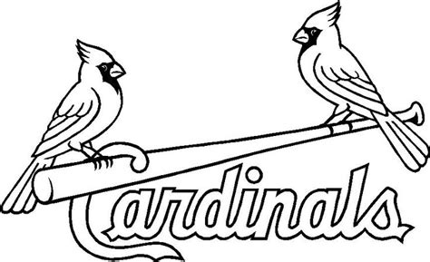 stl cardinals logo coloring pages coloring pages