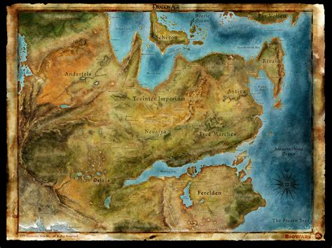 map world age map of thedas age origins wallpaper 12845705