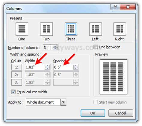 changing margins columns and gutter widths in an indesign how to adjust width spacing and line between columns in