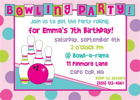 Bowling Birthday Party Invitations Free Templates Best Party Ideas Printable Birthday Invitation Templates