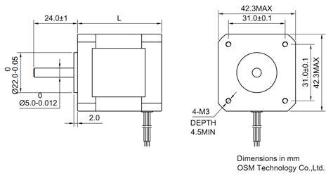 nema stepper motor sizes stepper motor second nema 17 standard vexta teac