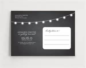 save the date postcard string lights editable template