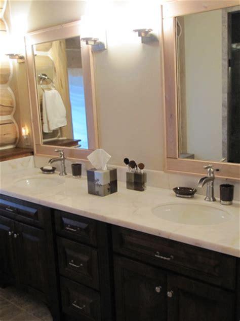 dark wood bathroom cabinets bathrooms slideshow hackbarth construction