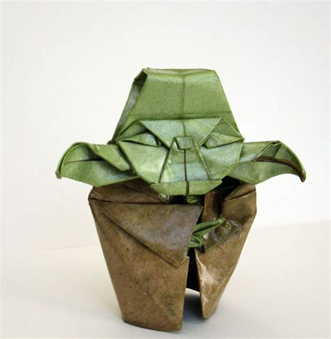 Origami Master Yoda - origami yoda strong in this one the folds are technabob