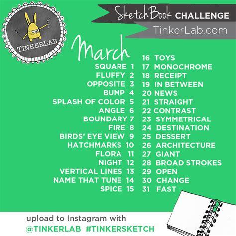 sketchbook challenge march tinkersketch sketchbook challenge tinkerlab