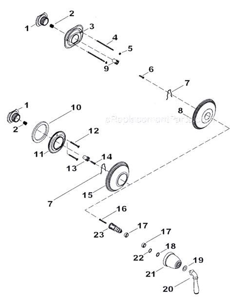kohler shower parts diagram kohler k t10357 4 parts list and diagram
