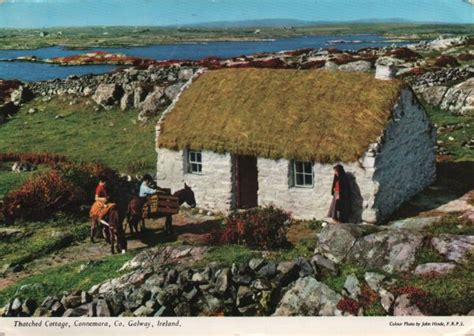 thatched cottages in ireland a postcard a day cottages