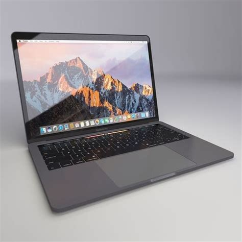 13 Inch Macbook Pro With Touch Bar Mnqg 2 Ida macbook pro 13 inch 2016 with touch bar 3d cgtrader
