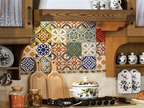 Kitchen Backsplash Stickers by Tile Decals Set Of 18 Tile Stickers For Kitchen Backsplash