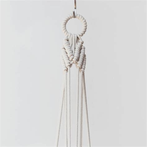 Macrame Cord For Plant Hangers - macrame plant hanger the arrow in cotton cord by koala