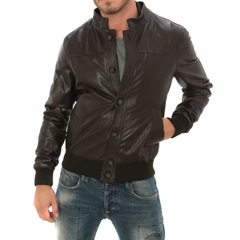 Bomber Button button bomber jacket brown s aff clothing
