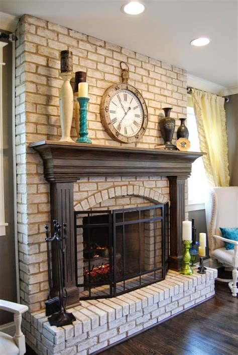 pictures of painted red brick fireplaces 25 best ideas about red brick fireplaces on
