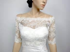 shrug wedding dress shoulder alencon lace bolero jacket bridal bolero wedding