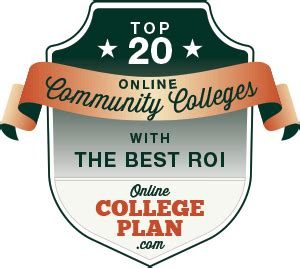Best Roi Mba Colleges In Usa by Top 20 Community Colleges With The Best Roi