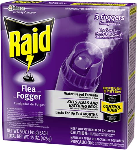 raid bed bug fogger raid 174 flea killer plus fogger products raid 174 brand sc johnson