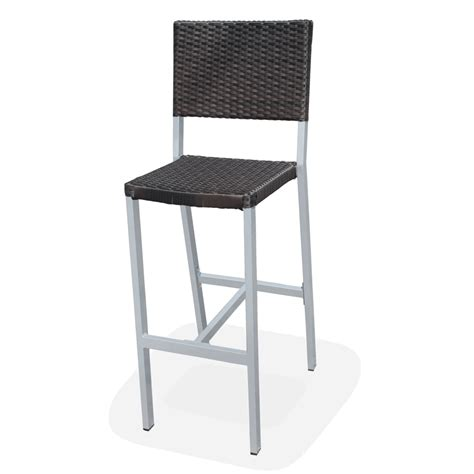 Outdoor Wicker Bar Stool Outdoor Resin Wicker Fiji Armless Bar Stool Bar Restaurant Furniture Tables Chairs And