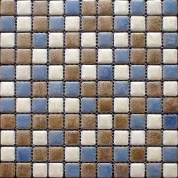 porcelain mosaic floor tiles pattern multi colored shower