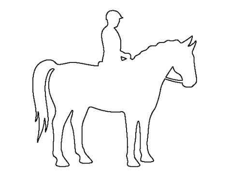 horse and rider pattern use the printable outline for