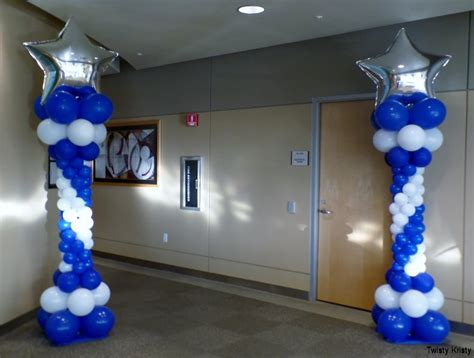 How To Make Balloon Decorations by How To Make Balloon Columns The Centerpieces Were Easy As