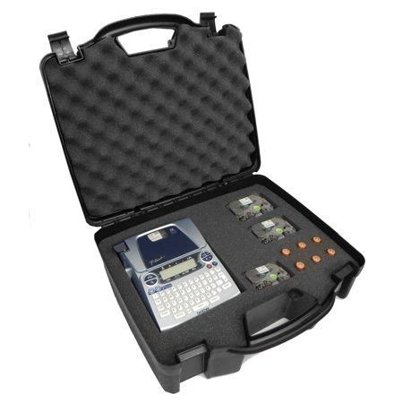 computer case pt in indonesia officeforce carrying printer labeler w dense foam for p touch ptd pt d600
