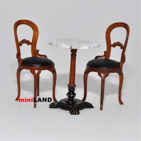 Coffee Shop Table And Chairs Bistro Table And 2 Chairs Quality Coffee Shop Restaurant Dollhouse Miniature 1 Quot