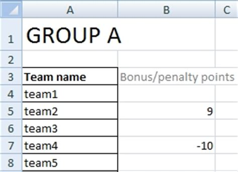 Sport Tournament Template 10 Team League Schedule Template