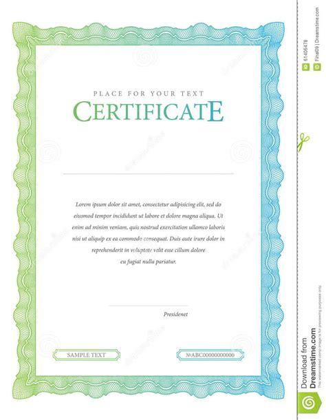 money certificate template vintage certificate template diplomas currency stock