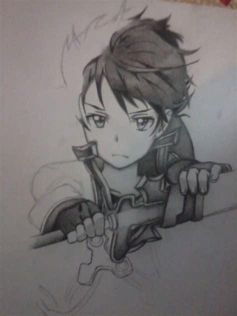 imagenes de kirito en blanco y negro mi colecci 243 n de dibujos anime a color taringa