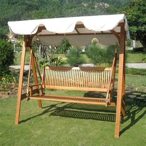 Patio Swing With Frame International Caravan Royal Tahiti 3 Seater Patio Swing