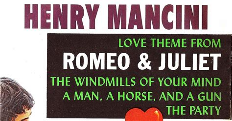 love theme from romeo and juliet by henry mancini toca de compactos henry mancini love theme from romeo