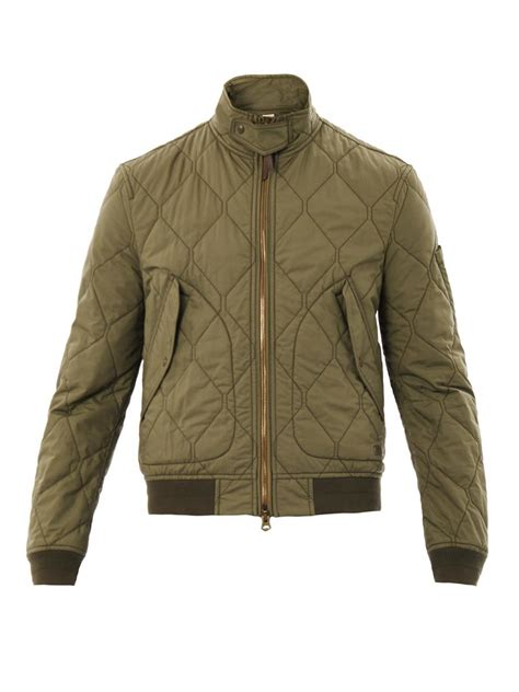 Green Quilted Jacket by Quilted Bomber Jacket Green Jackets