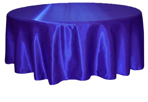 120 inch royal blue satin tablecloths