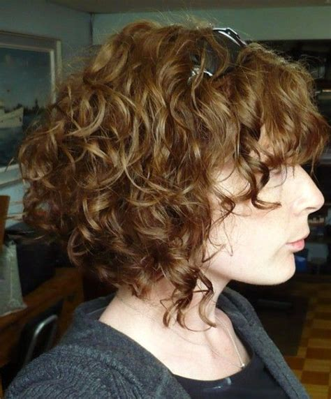 angled bob for curly hair shoulder length curly angled bob google search hair