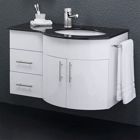 Granite Top Vanity Unit by Wall Vanity Unit With Granite Top Right Handed 870x550mm